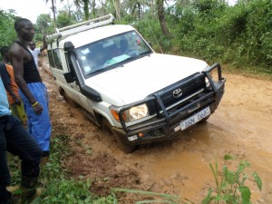 CHASL Vehicle in Bad Roads trying to reach CHASL Member facilities