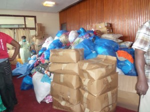 Items donated to flood victims